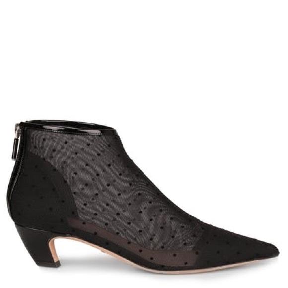 81861a82c25d NEW Christian Dior Pretty polka dot mesh booties
